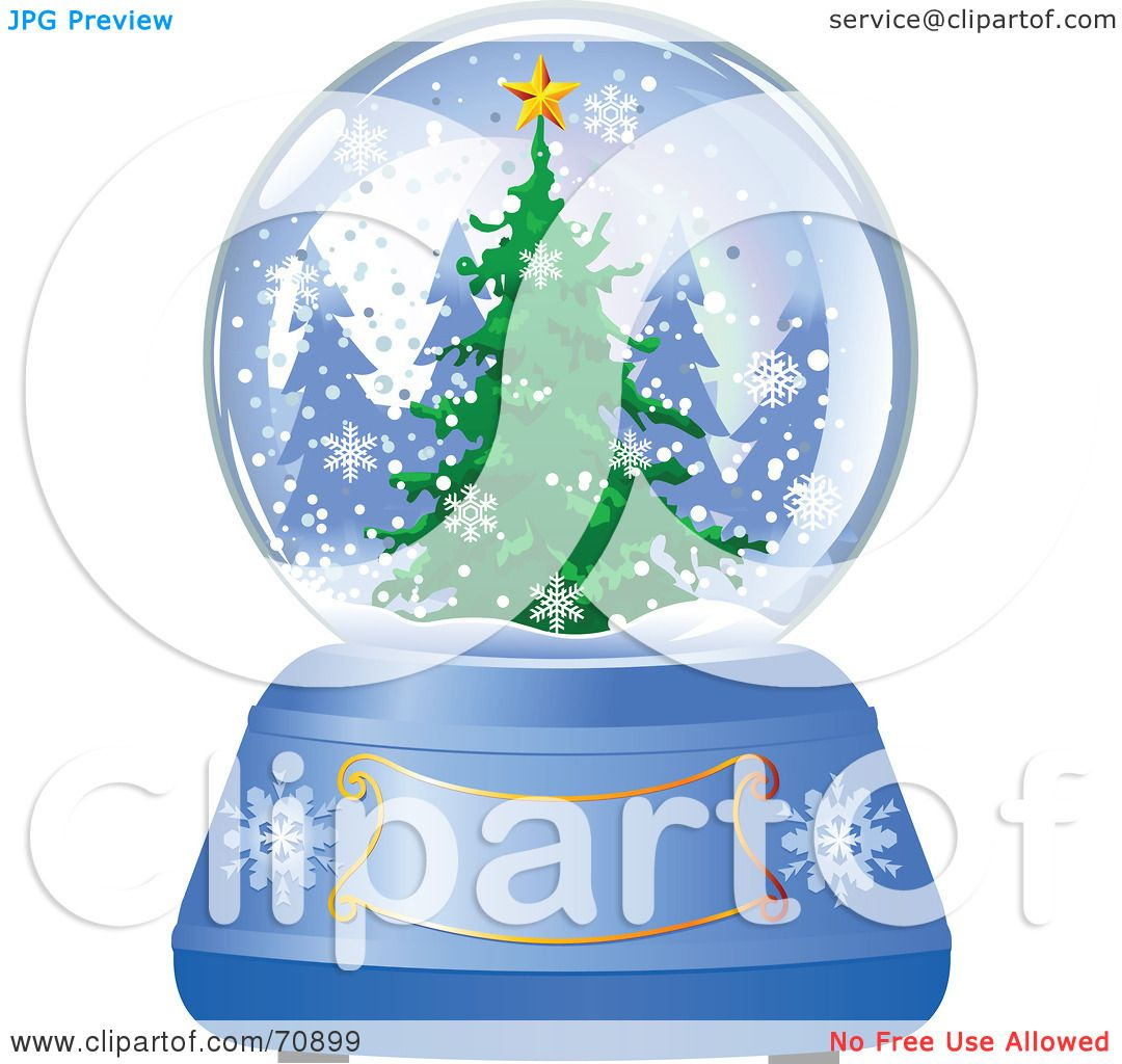 Royalty-Free (RF) Clipart Illustration of a Blue Christmas Snow ...