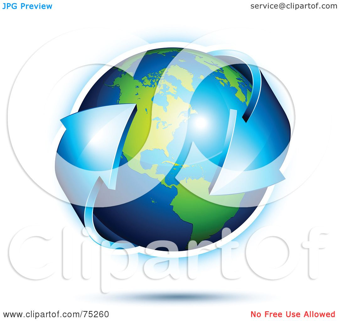 Royalty-Free (RF) Clipart Illustration Of A Blue Double ...