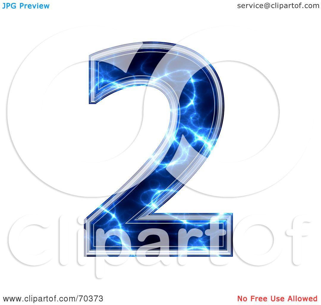 Blue Electric Symbol Number 2 70373