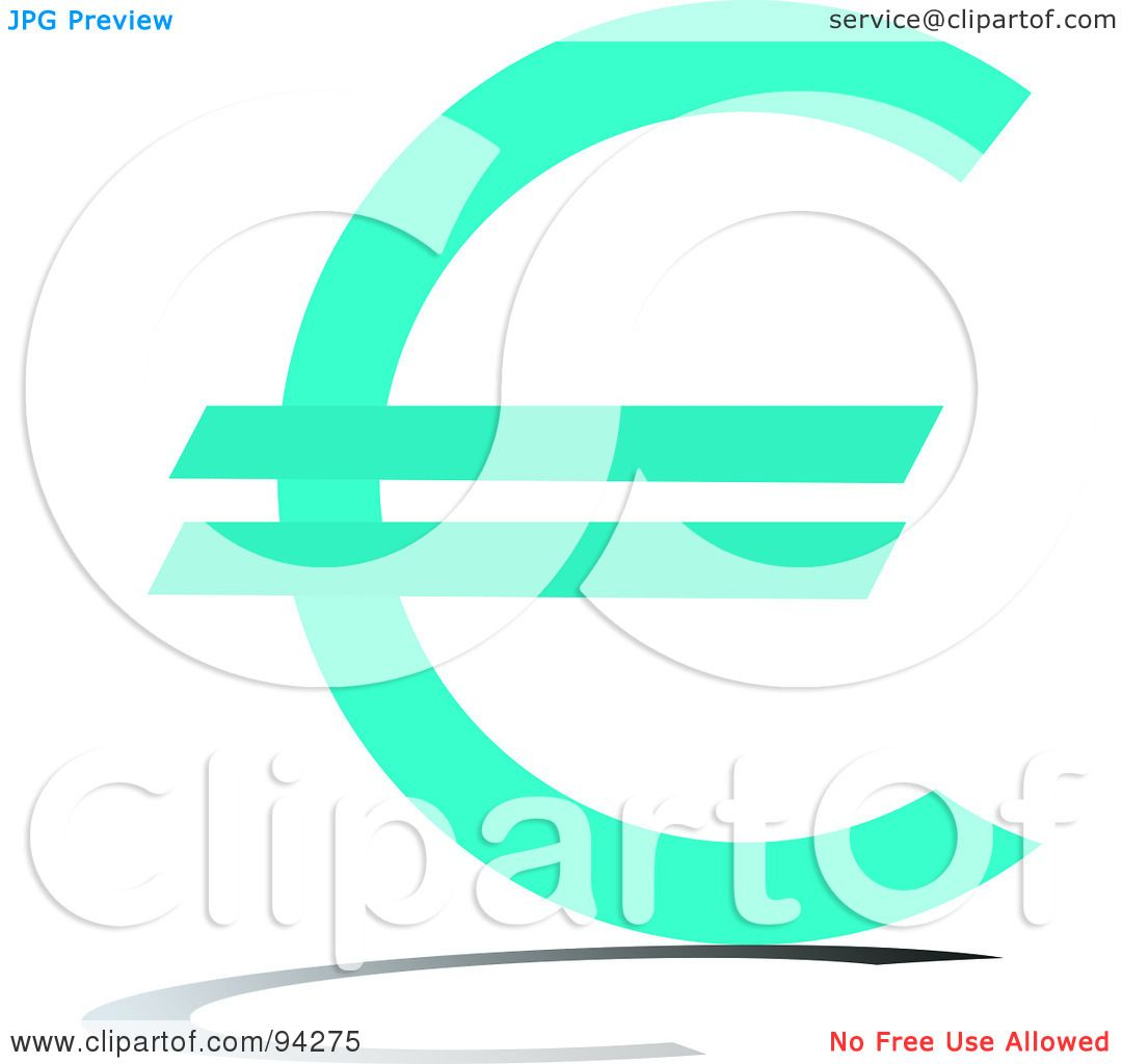 Royalty Free Rf Clipart Illustration Of A Blue Euro Currency