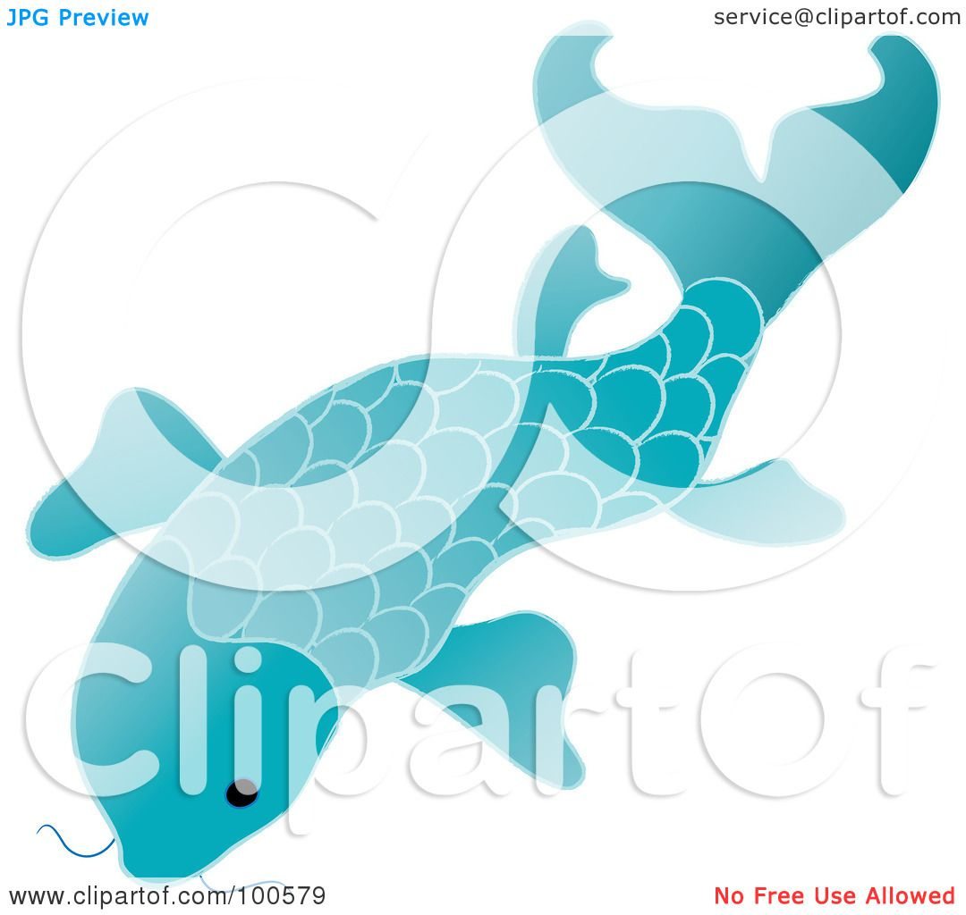 Blue koi fish clipart - photo#8