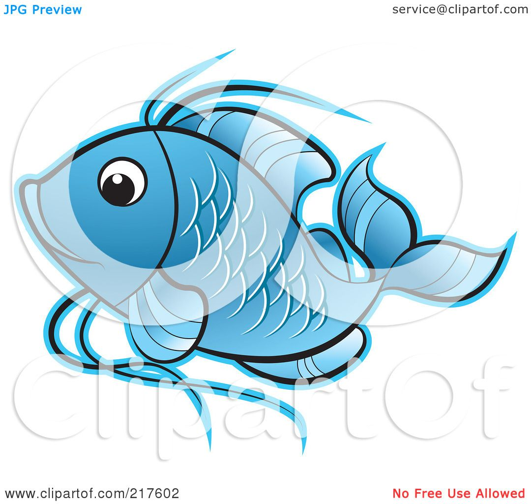 Blue koi fish clipart - photo#14