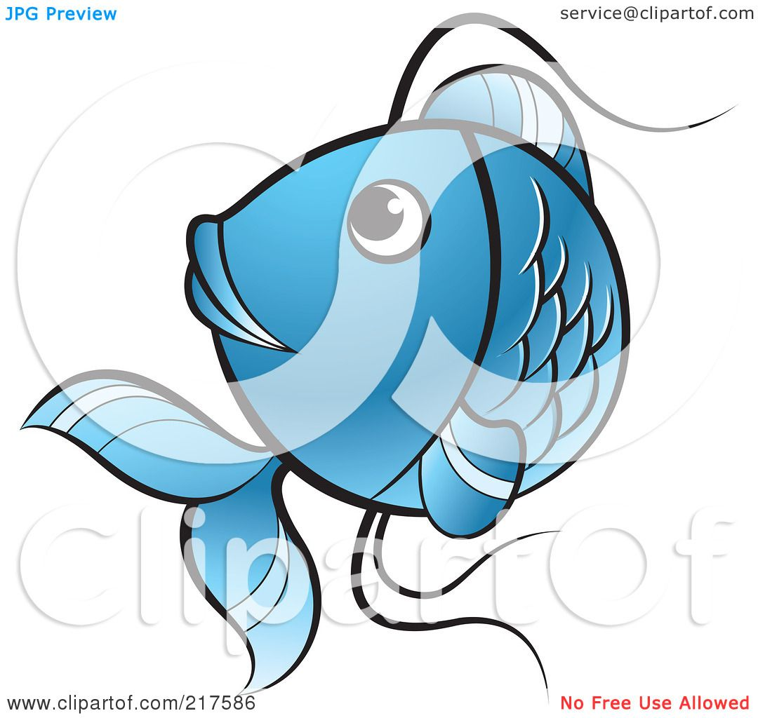 Blue koi fish clipart - photo#12