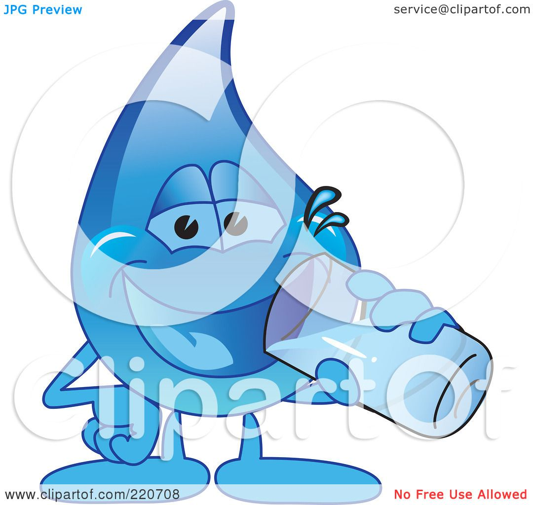 Royalty-Free (RF) Clipart Illustration of a Blue Water ...
