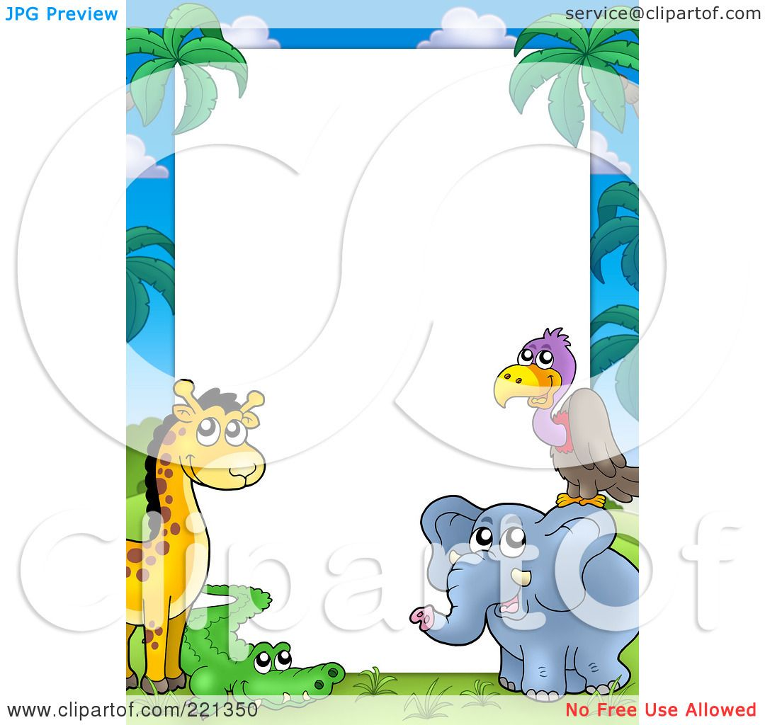 Royalty Free Rf Clipart Illustration Of A Border Frame