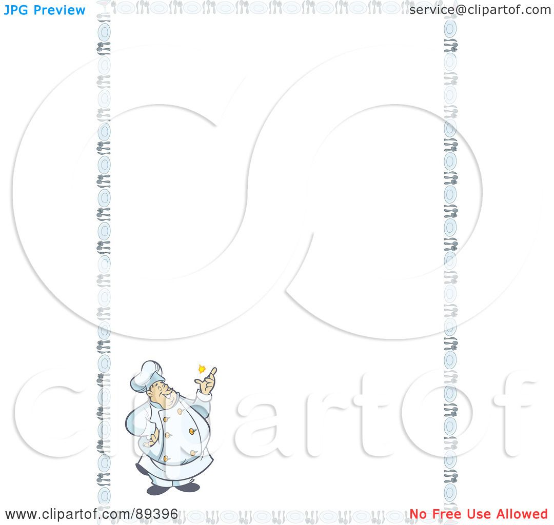 Royalty-Free (RF) Clipart Illustration of a Border Of A ...