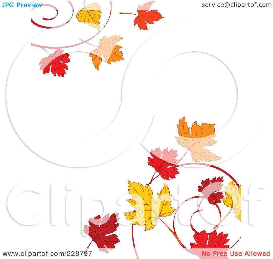 royalty free rf clipart illustration of a border of autumn leaf rh clipartof com Microsoft Clip Art Borders Microsoft Clip Art Borders