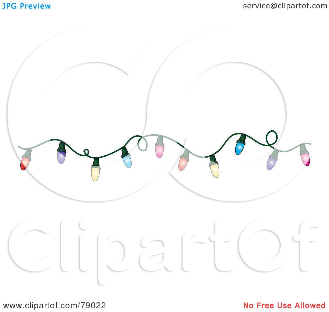 Royalty Free RF Clipart Christmas Lights On House