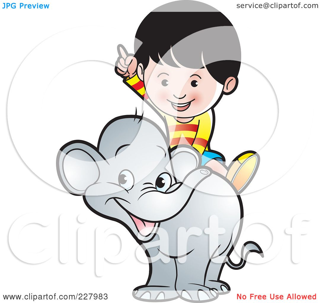 Royalty-Free (RF) Clipart Illustration of a Boy Riding A ...