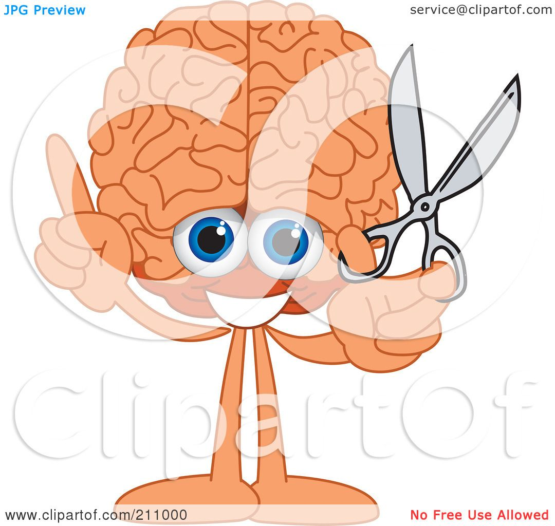 Royalty-Free (RF) Clipart Illustration of a Brain Guy Character ...