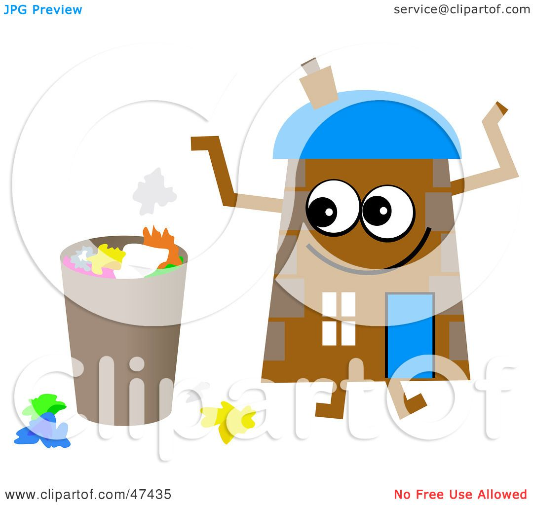 Brown House Clipart