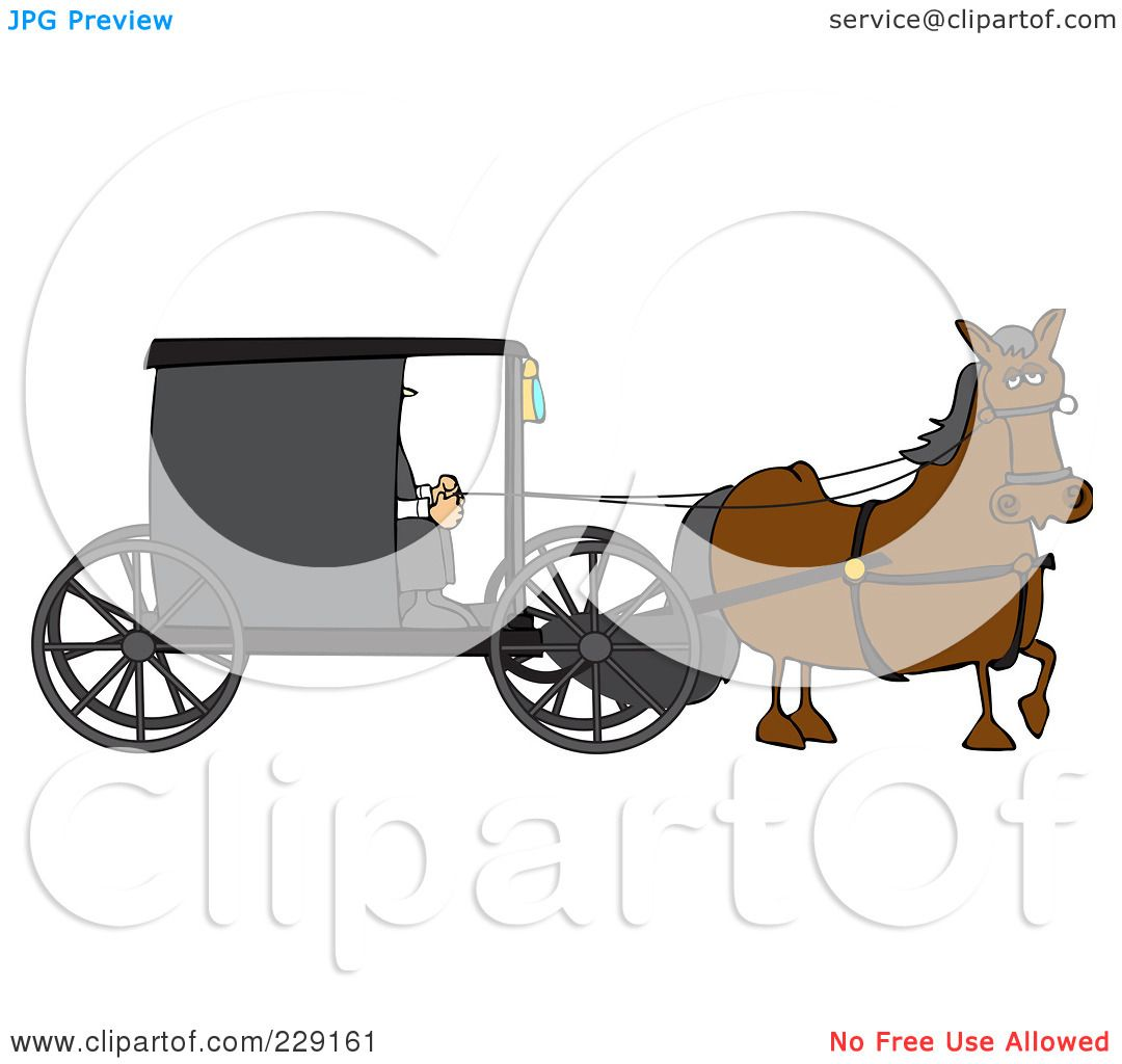 Royalty-Free (RF) Clipart Illustration of a Brown Horse ...