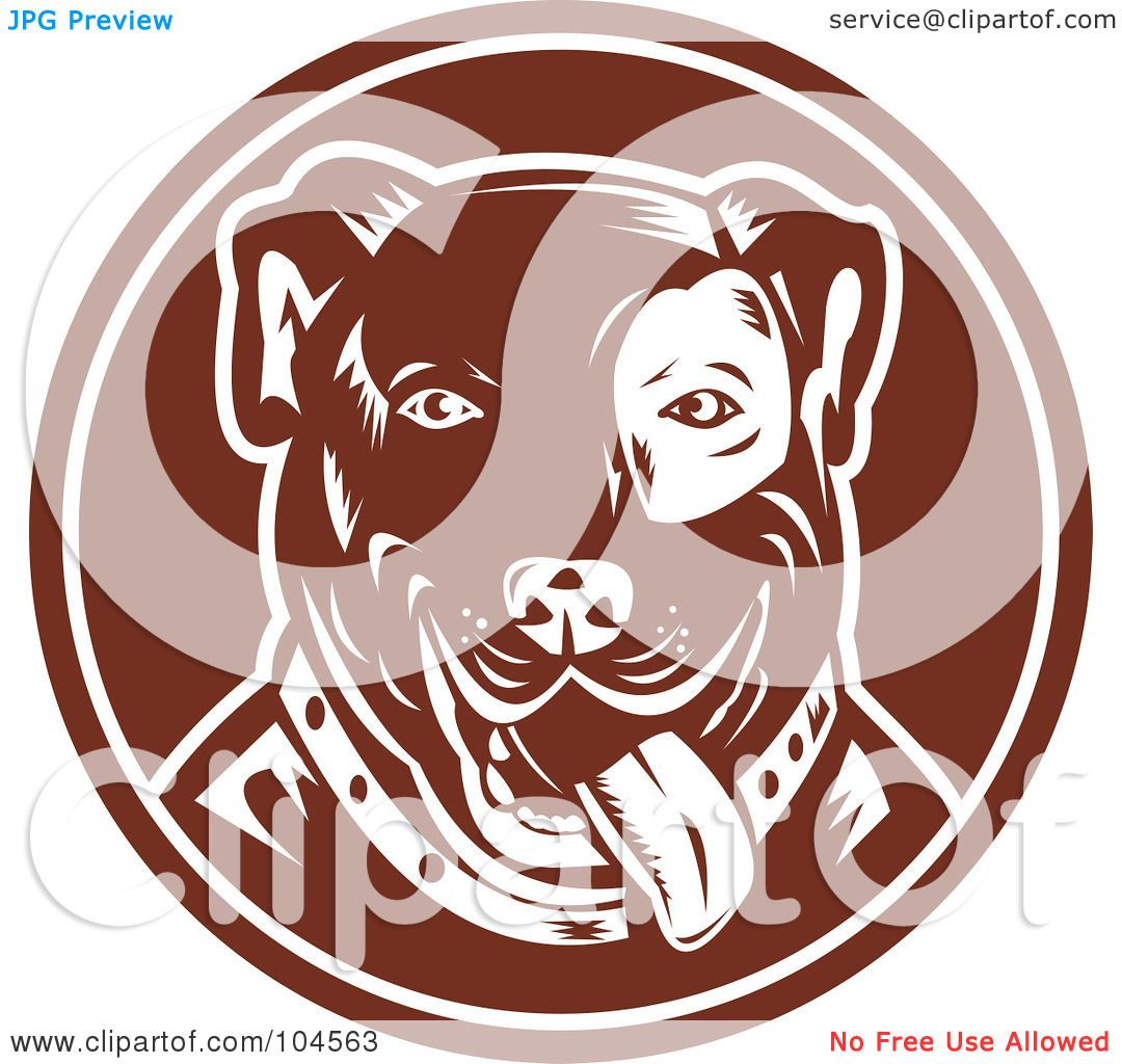 Royalty Free Rf Clipart Illustration Of A Brown Pit Bull