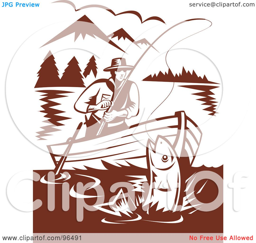 Royalty Free Rf Clipart Illustration Of A Brown Scene Of