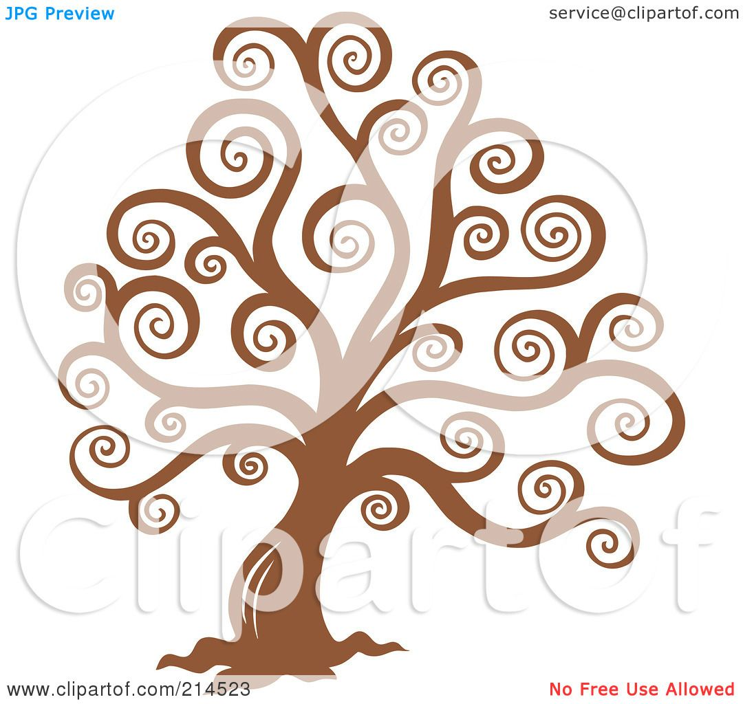 Royalty-Free (RF) Clipart Illustration of a Brown Swirly ...