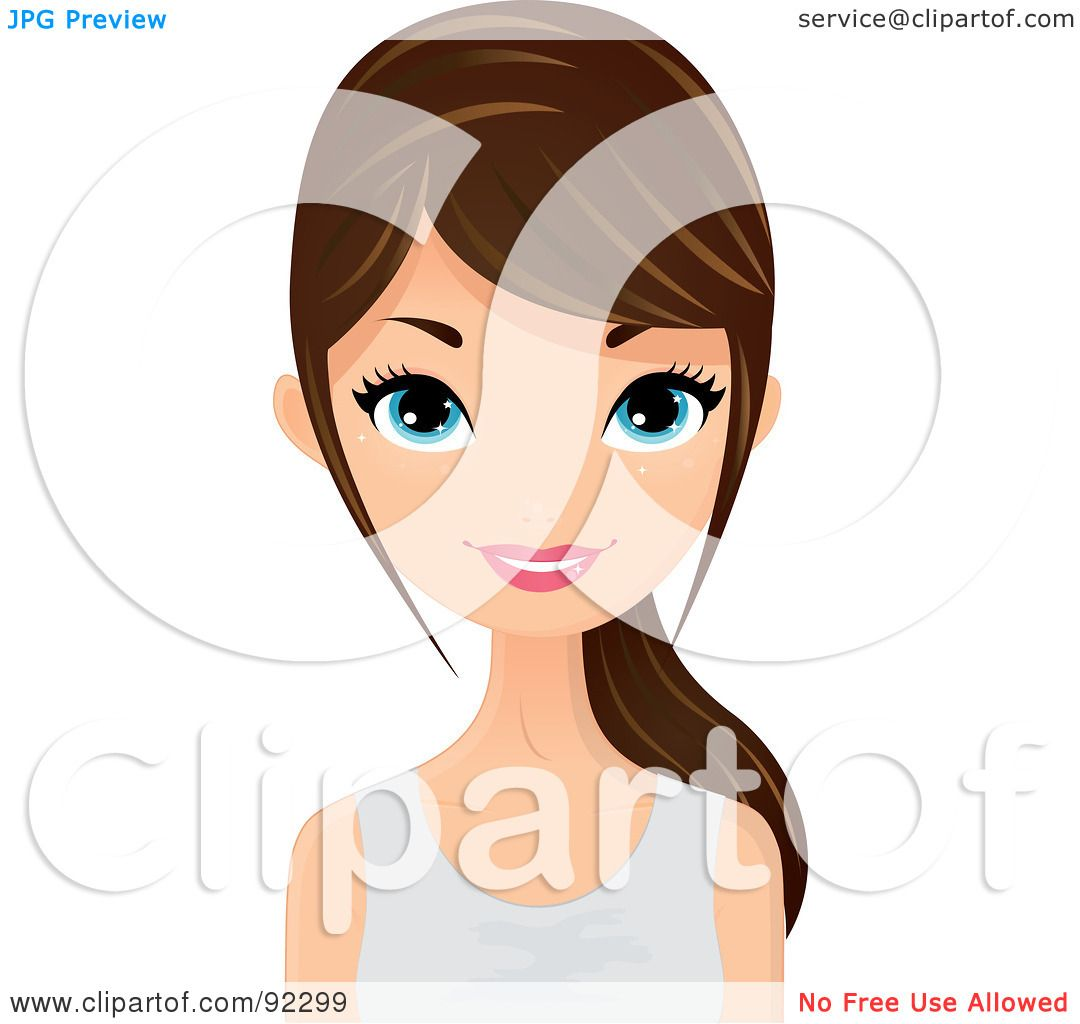 Royalty-Free (RF) Clipart Illustration of a Brunette ...