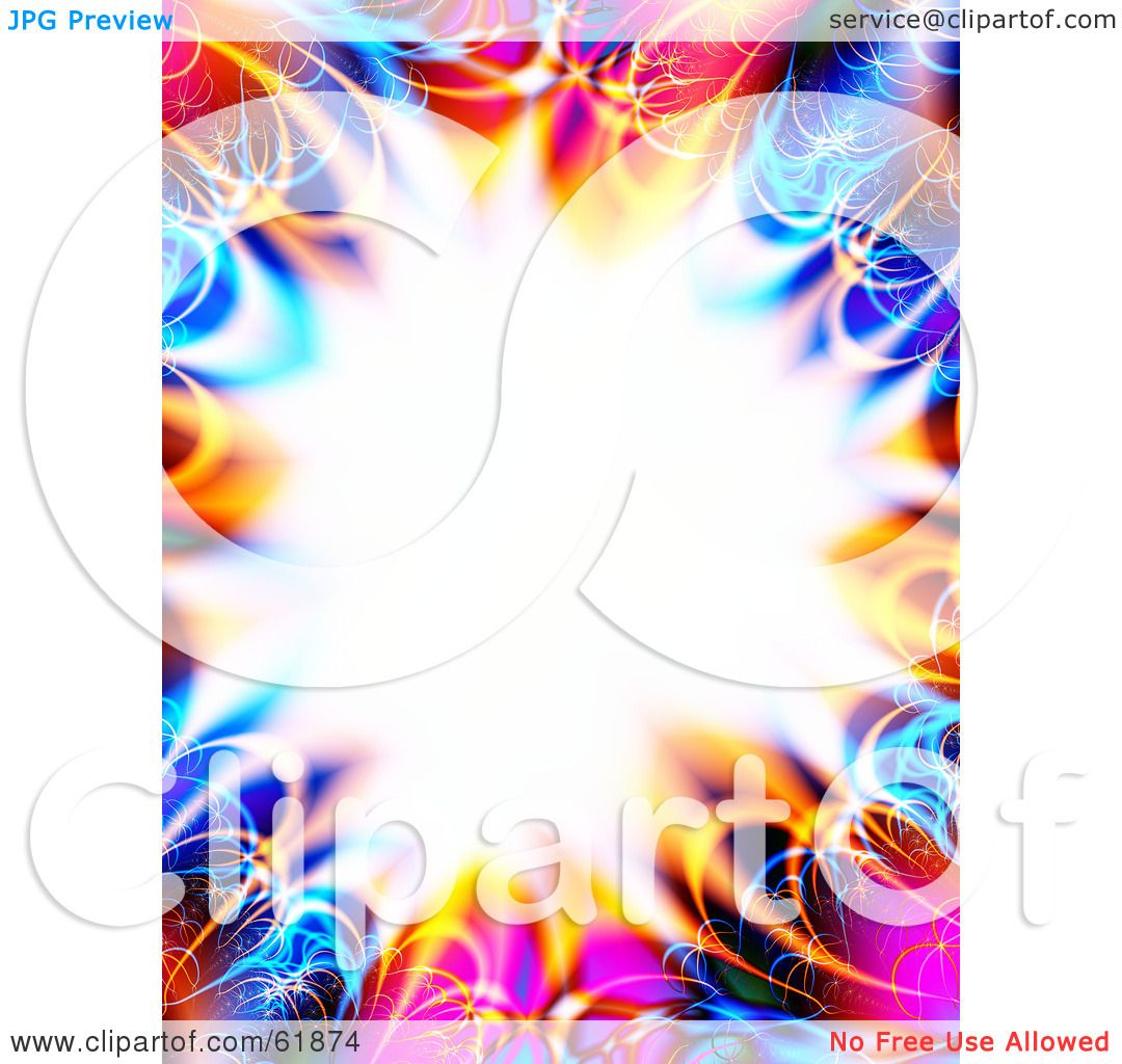 White Backgrounds With Colorful Borders Royalty-free (R...