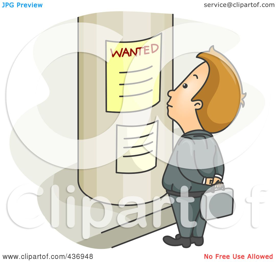 Royalty Free Rf Clipart Illustration Of A Businessman Looking For