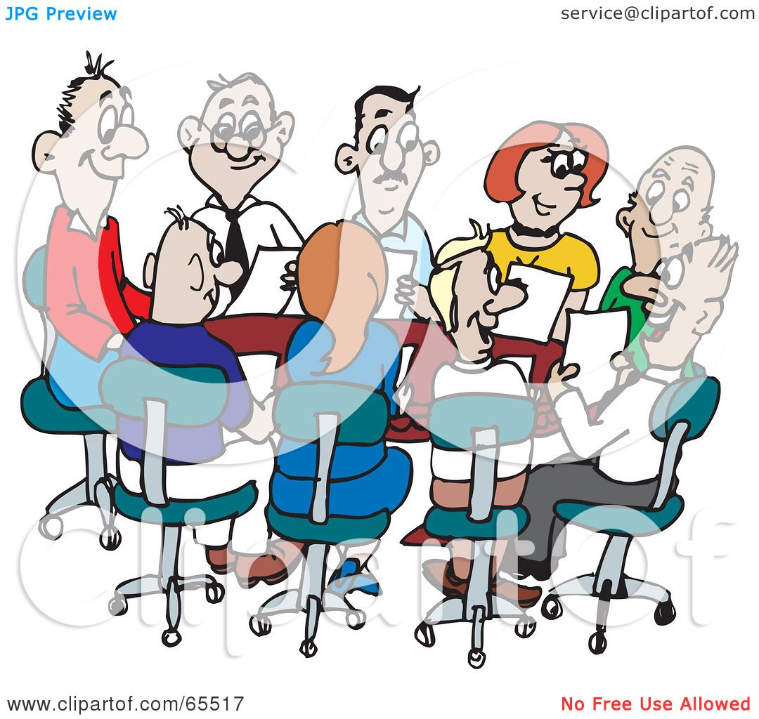 Royalty-Free (RF) Clipart Illustration of a Busy Office ...