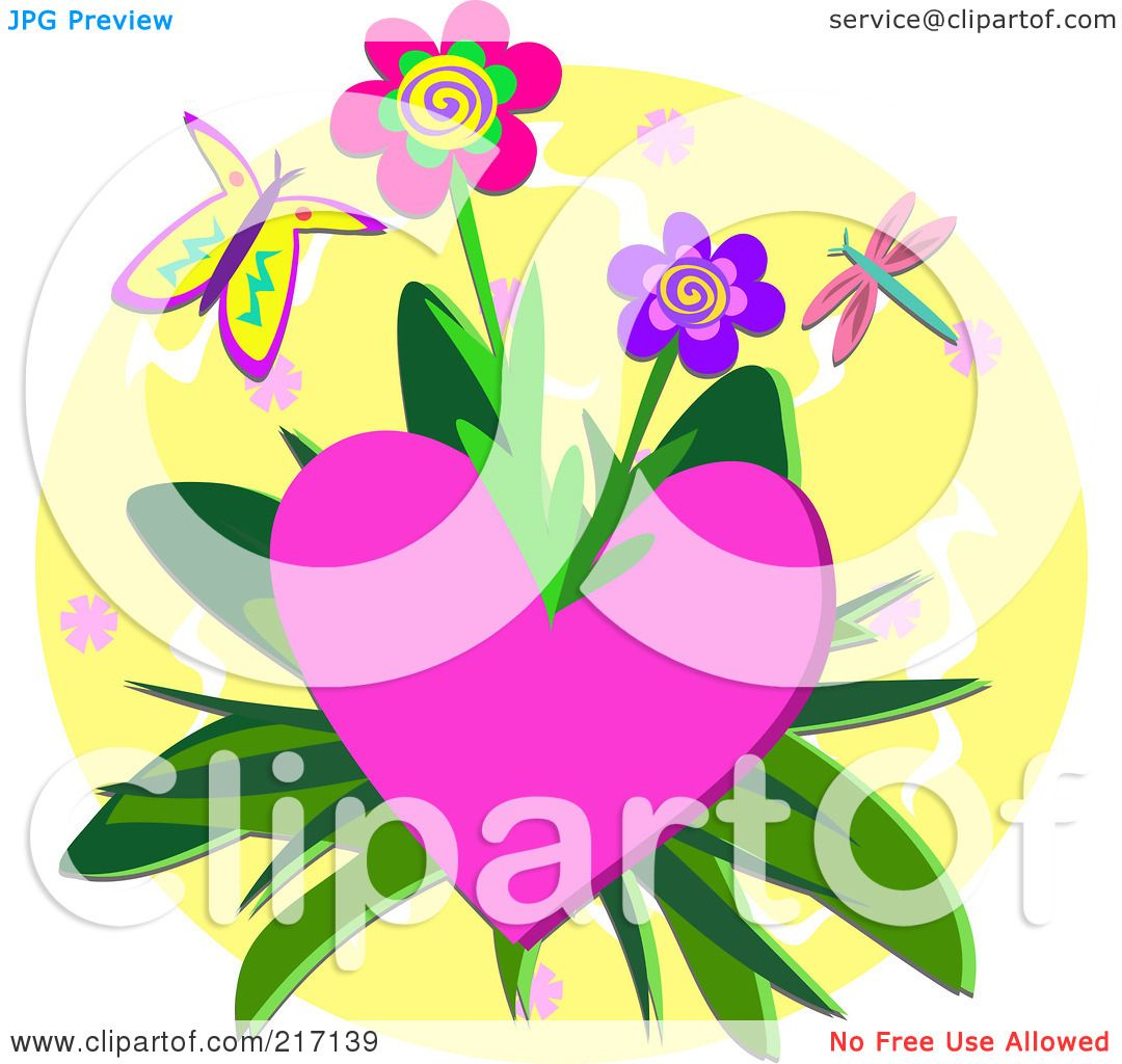 Royalty-Free (RF) Clipart Illustration of a Butterfly And ...