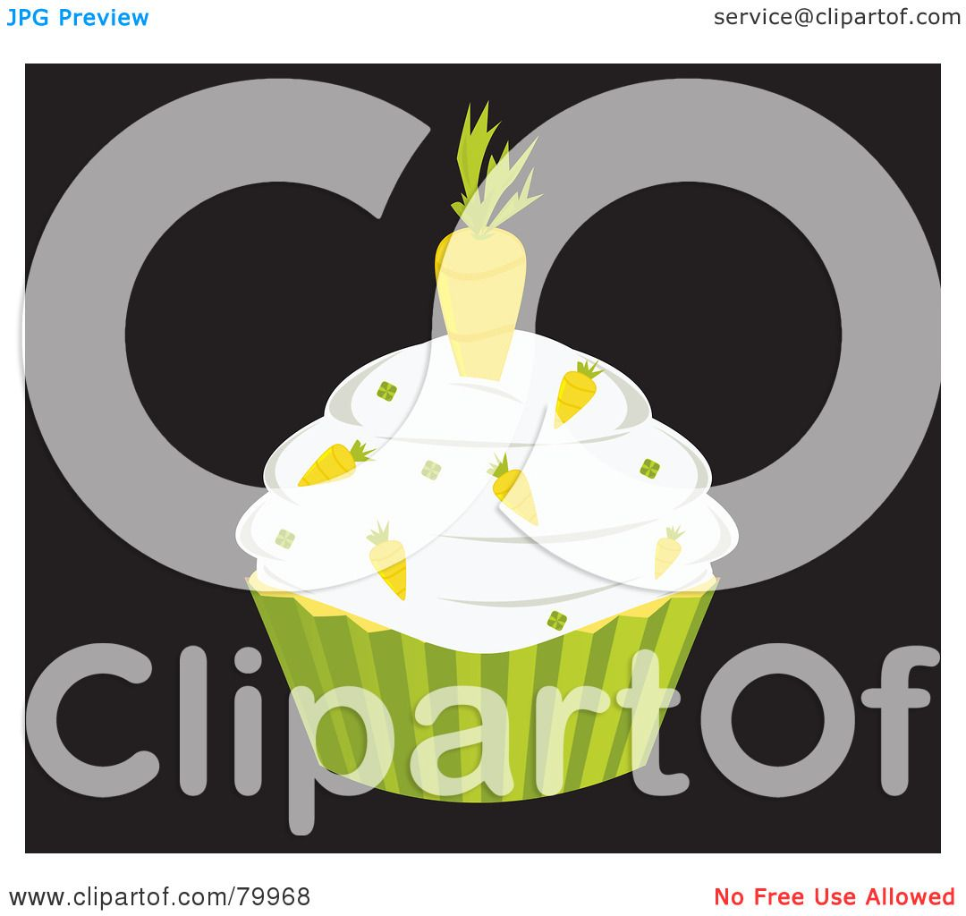 Royalty-Free (RF) Clipart Illustration of a Carrot Cake ...