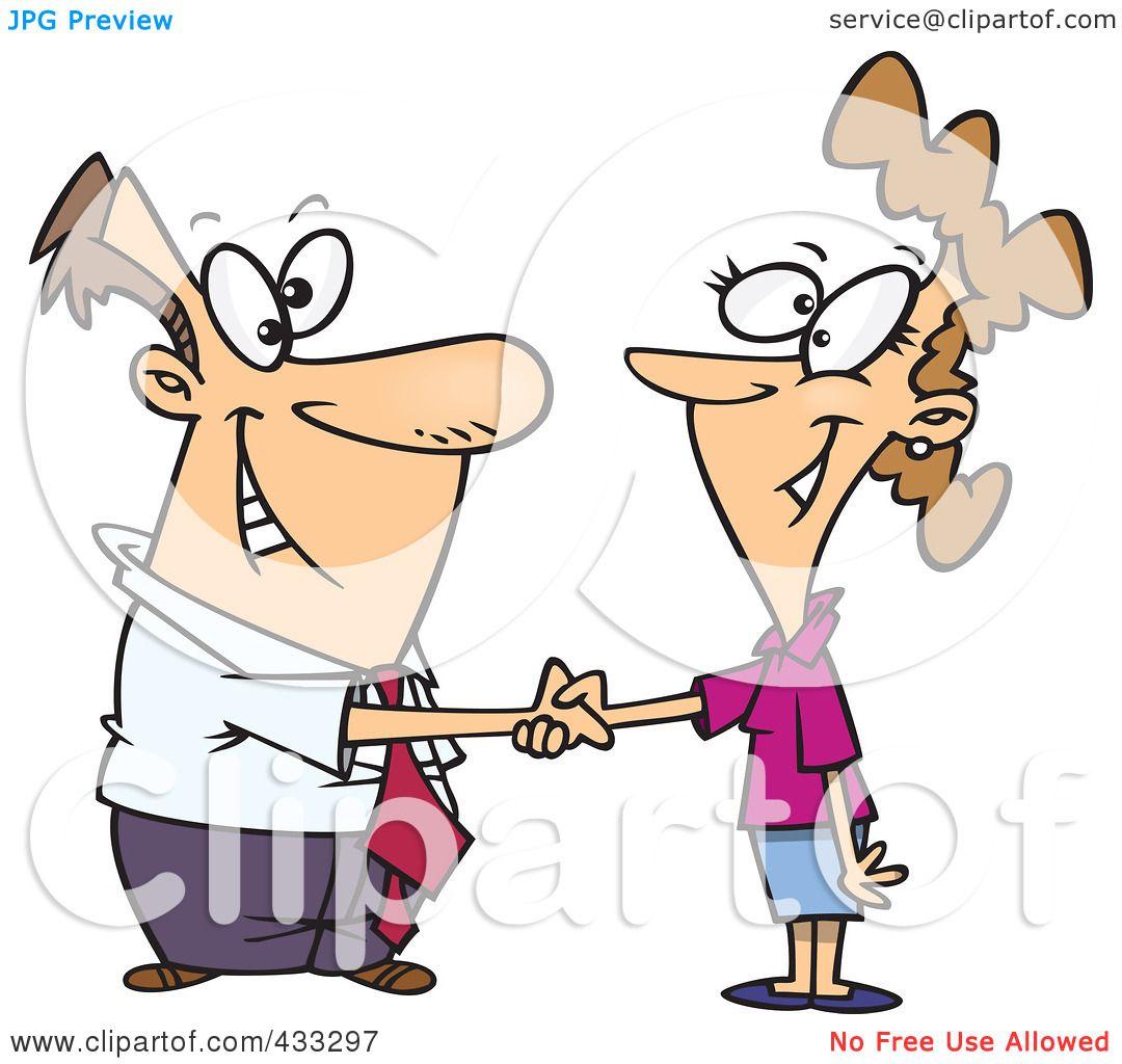 royalty free rf clipart illustration of a cartoon businessman rh clipartof com shaking hands cartoon pic handshake cartoon vector