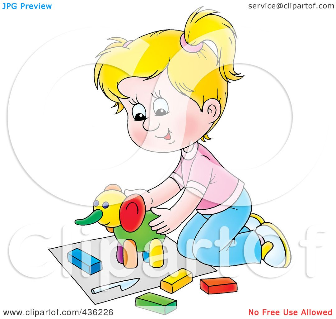 Royalty Free Rf Clipart Illustration Of A Cartoon Girl