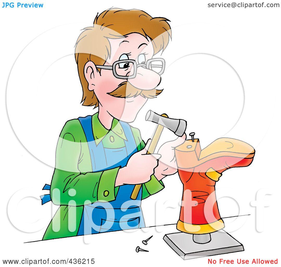 Royalty-Free (RF) Clipart Illustration of a Cartoon Shoe ...