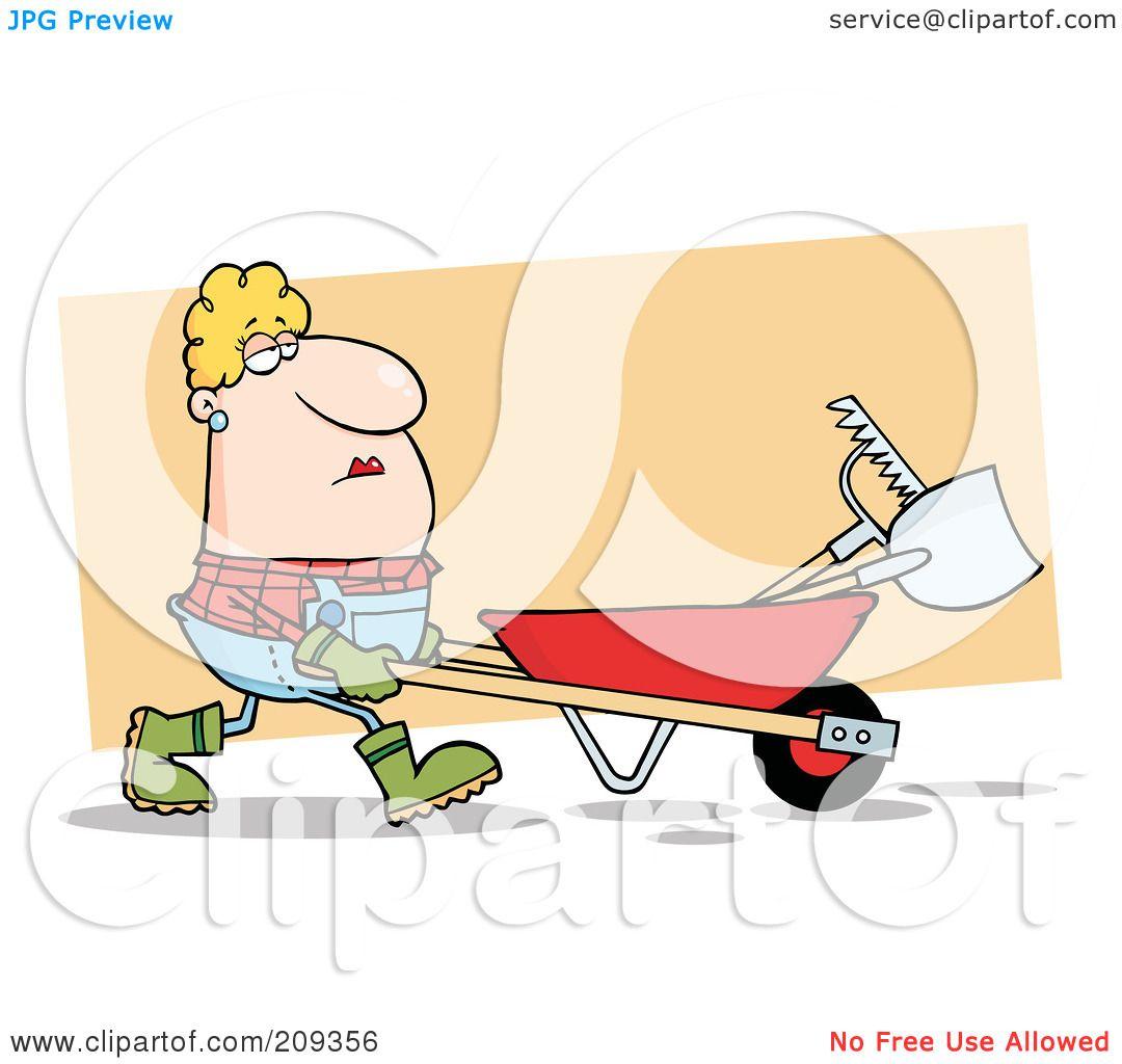 Wheelbarrow race clipart