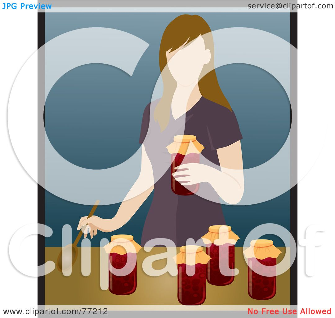 Royalty-Free (RF) Clipart Illustration of a Caucasian Woman Canning ...