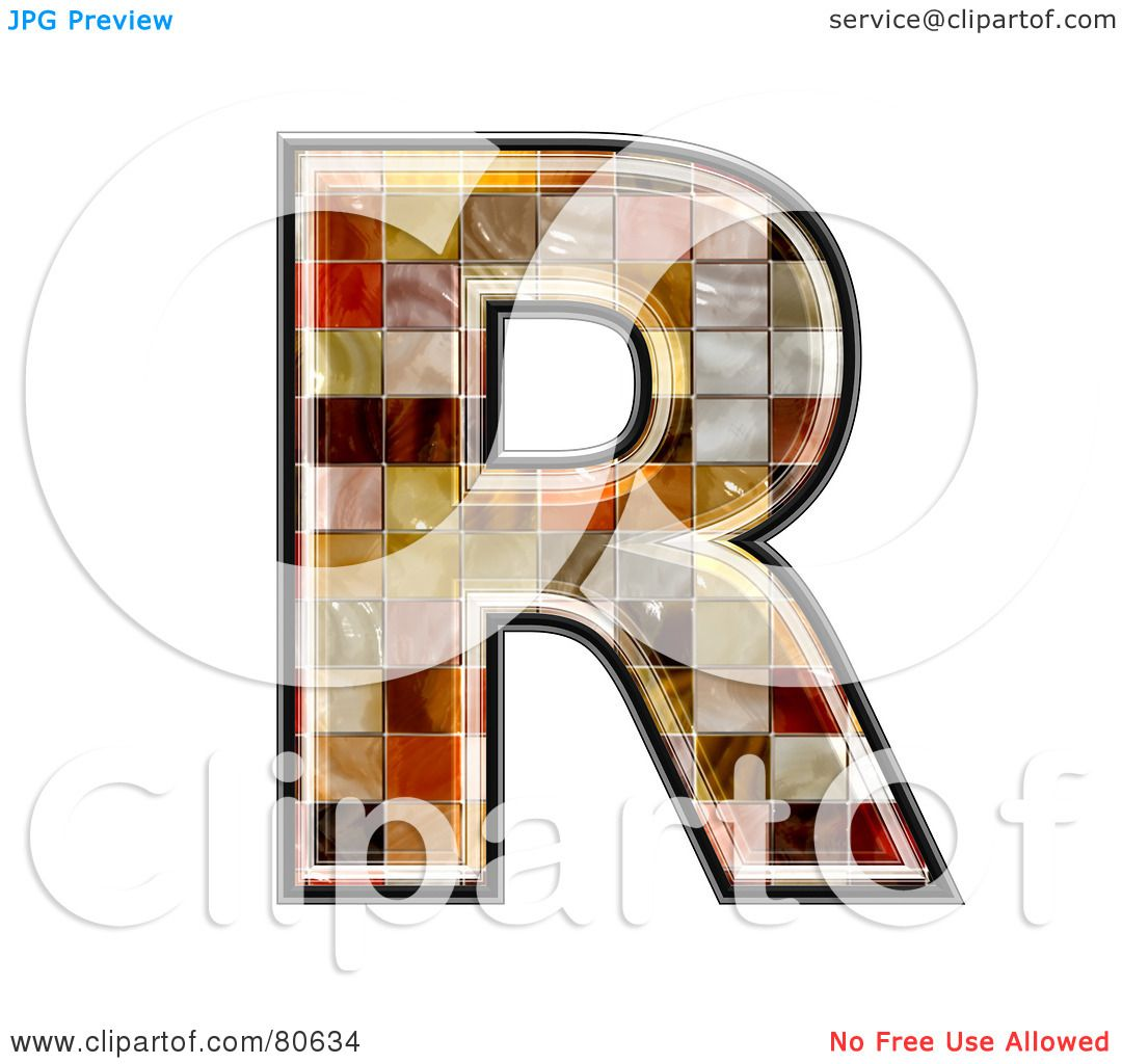 Royalty free rf clipart illustration of a ceramic tile symbol royalty free rf clipart illustration of a ceramic tile symbol capitol letter r by chrisroll doublecrazyfo Image collections