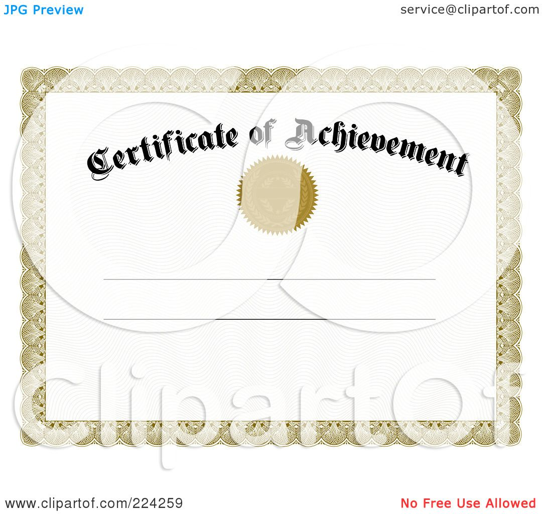Blank Achievement Certificates Certificate Of Achievement Royalty – Free Achievement Certificates