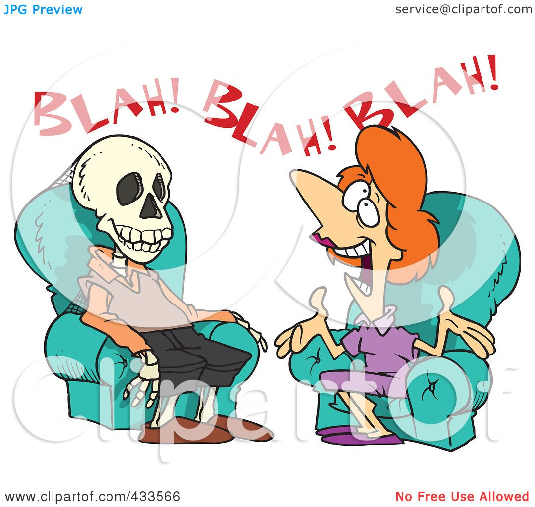 Royalty-Free (RF) Clipart Illustration Of A Chatty Woman ...
