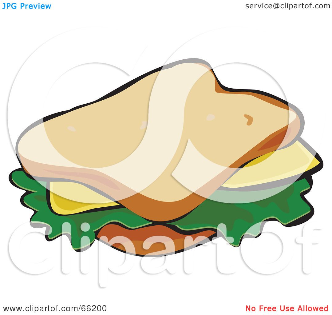 Royalty-Free (RF) Clipart Illustration of a Cheese Sandwich On ...