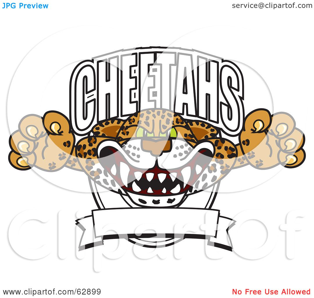 Royalty-Free (RF) Clipart Illustration of a Cheetah Character ...