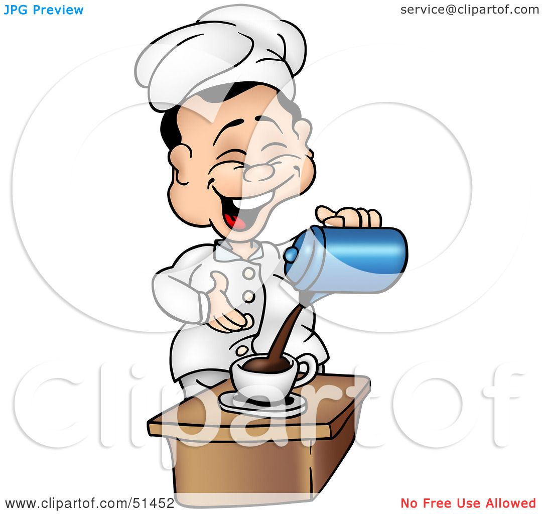 Royalty-Free (RF) Clipart Illustration of a Chef Pouring ...