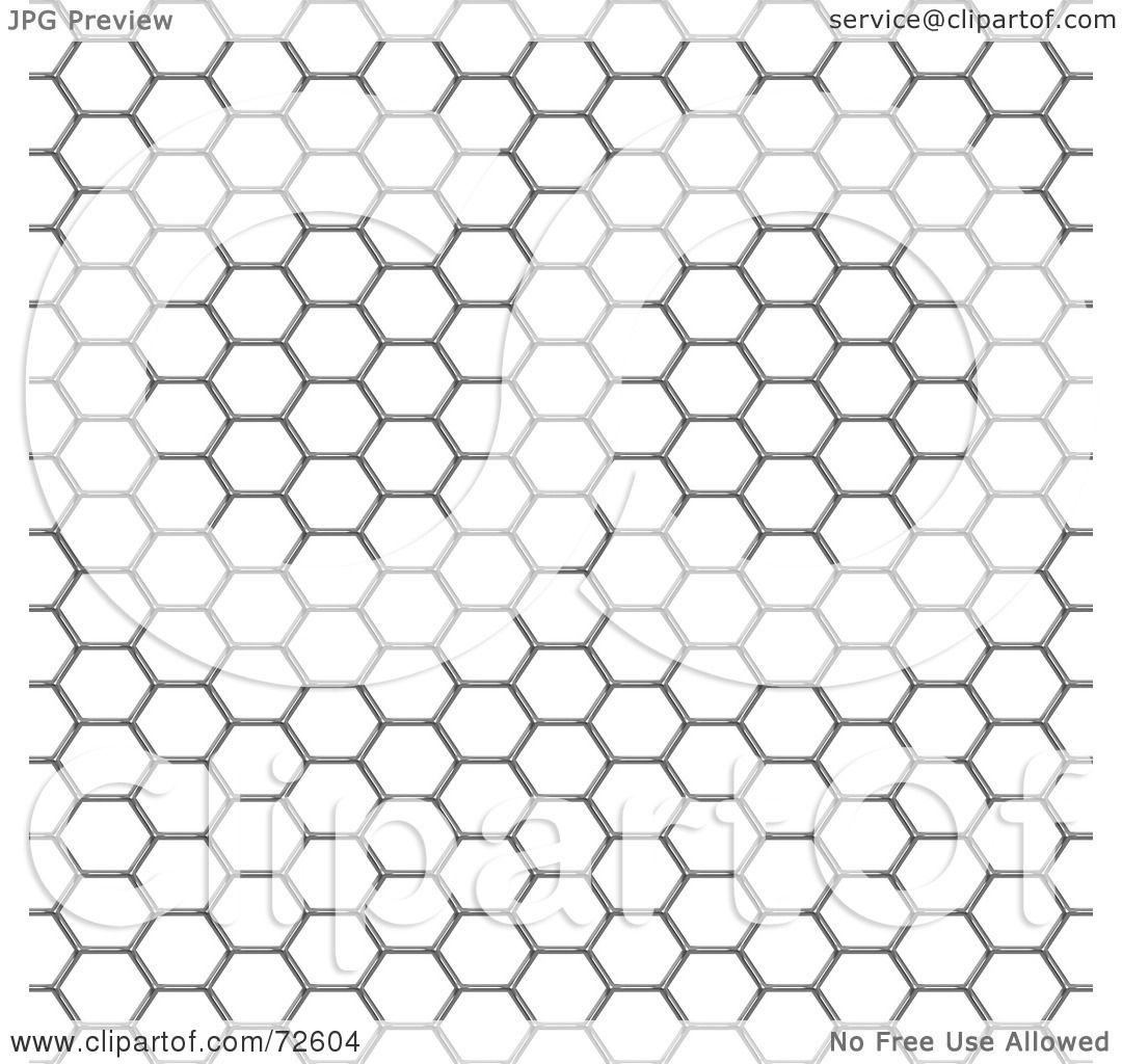 Royalty-Free (RF) Clipart Illustration of a Chicken Wire Mesh ...