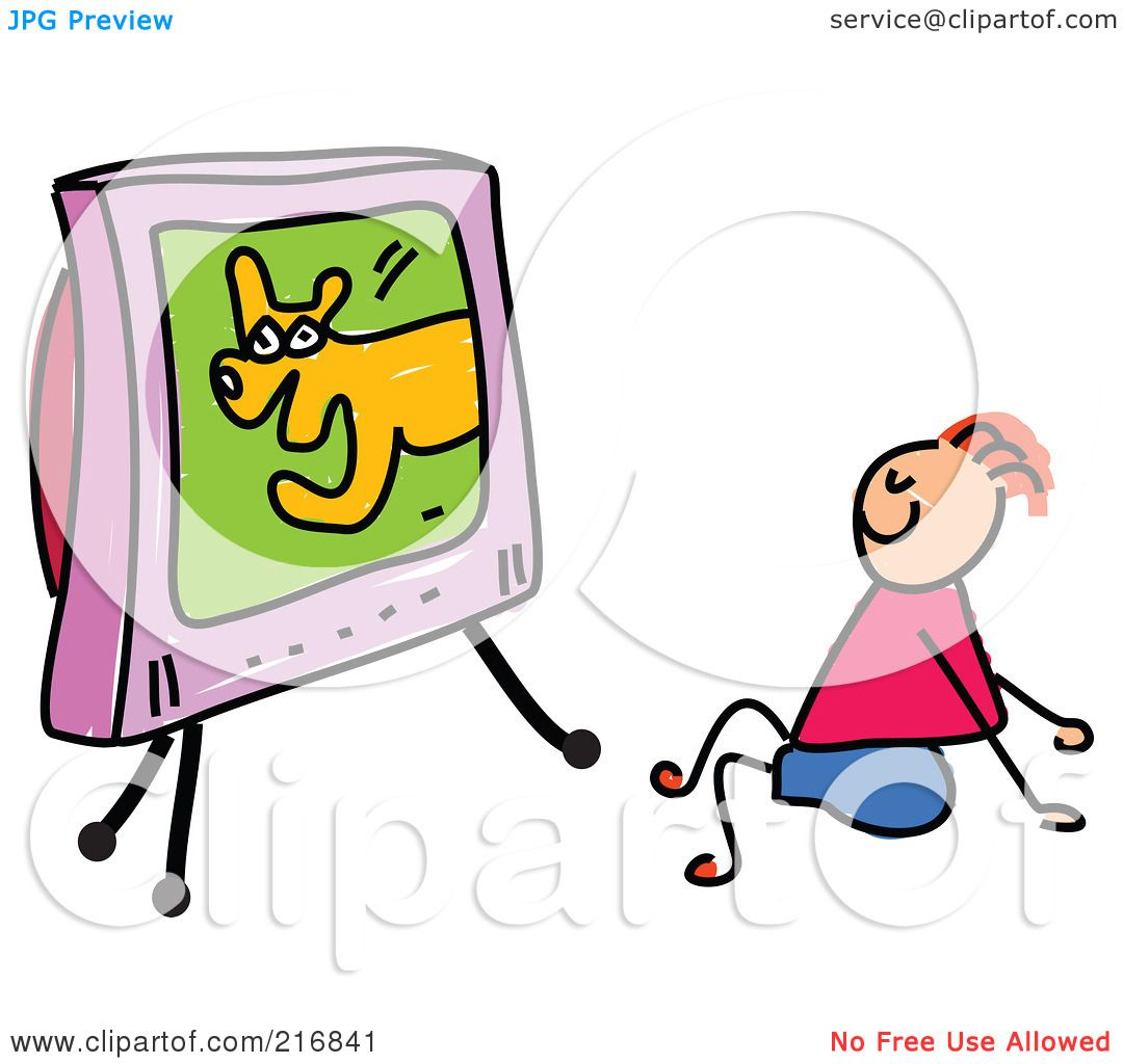 clipart boy watching tv - photo #29