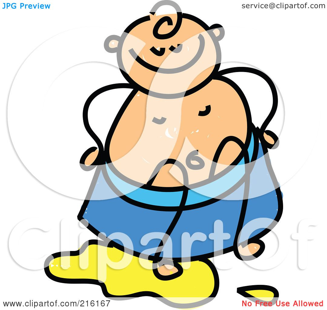 Royalty-Free (RF) Clipart Illustration of a Childs Sketch Of Baby ...