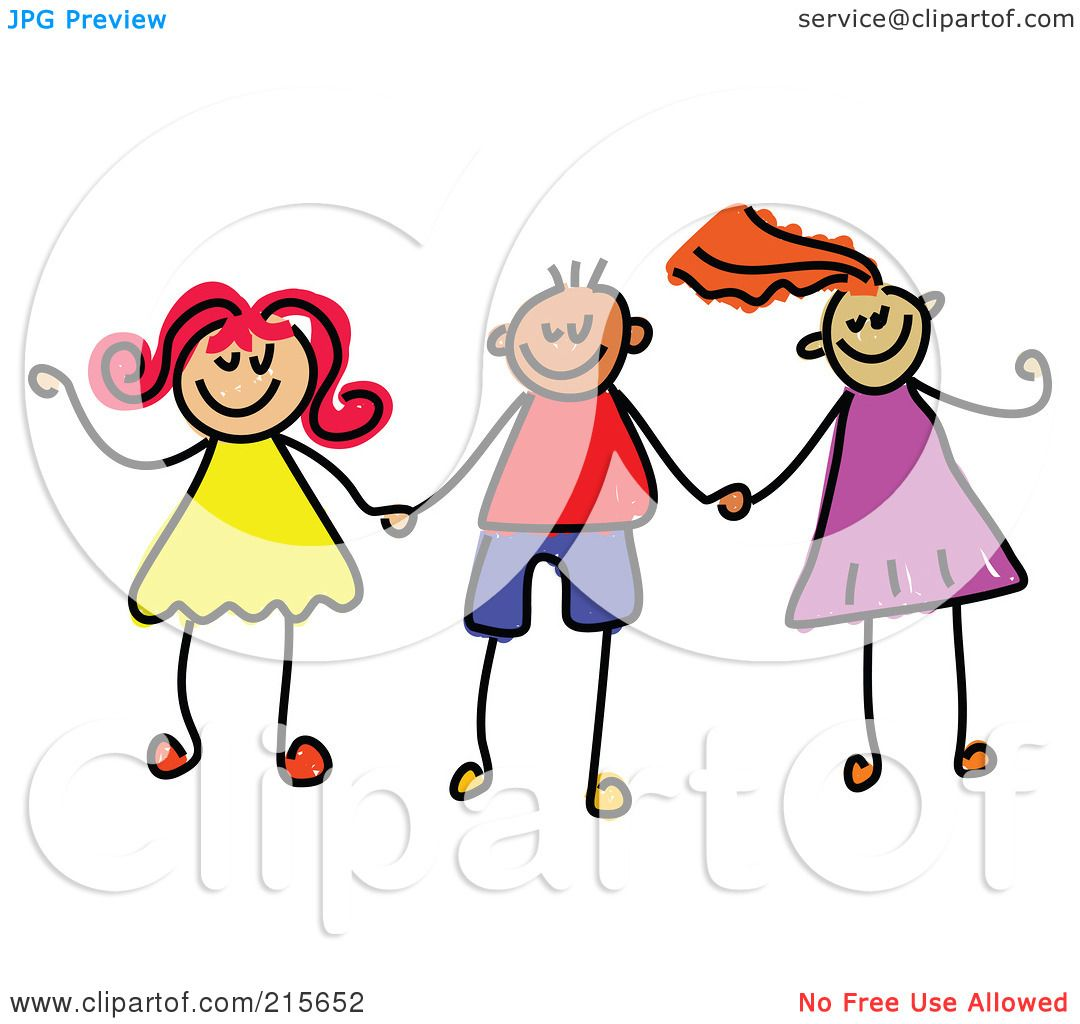 royalty free rf clipart illustration of a childs sketch of boys rh clipartof com