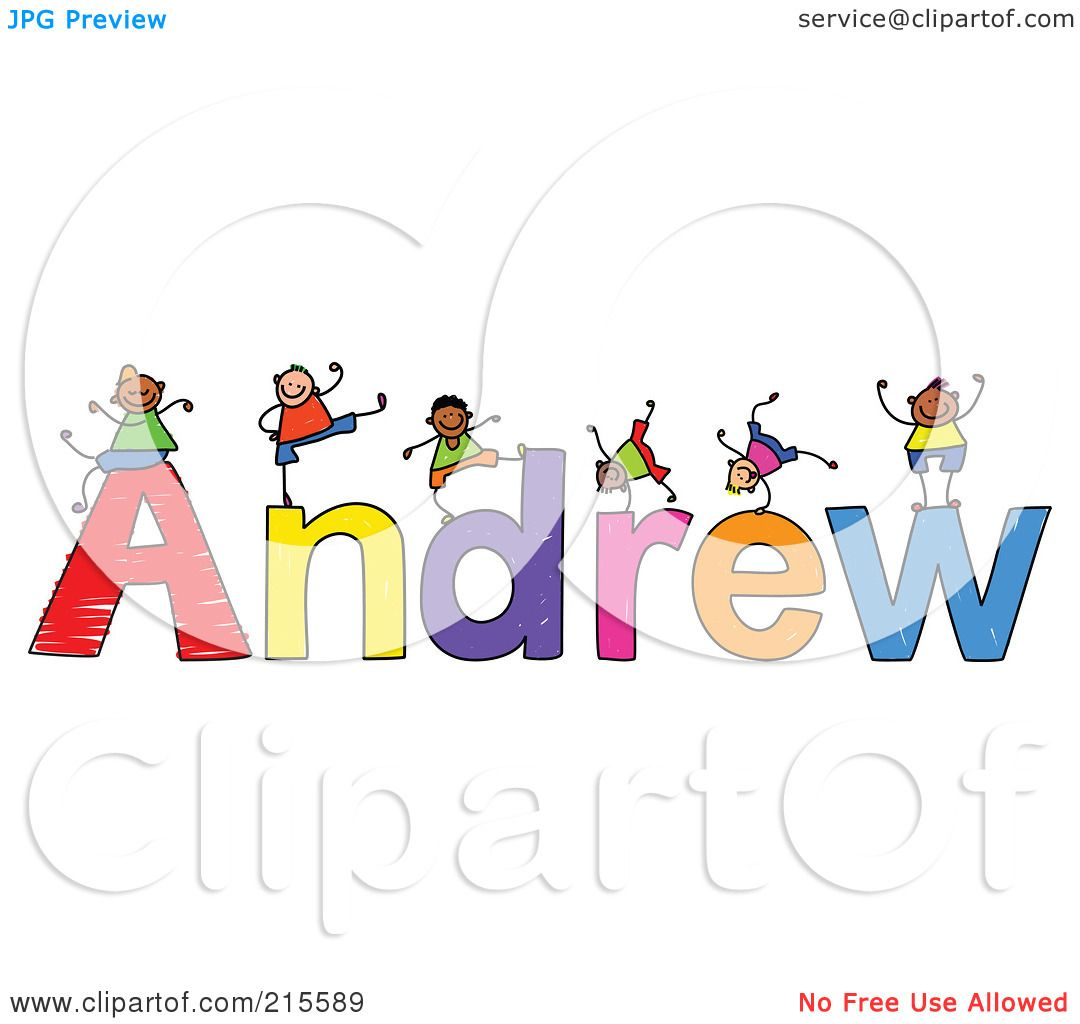 Free coloring pages of name andrew