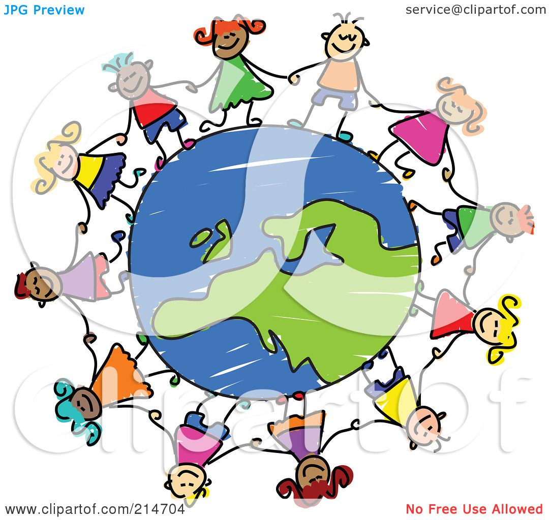 Royalty-Free (RF) Clipart Illustration of a Childs Sketch Of ...