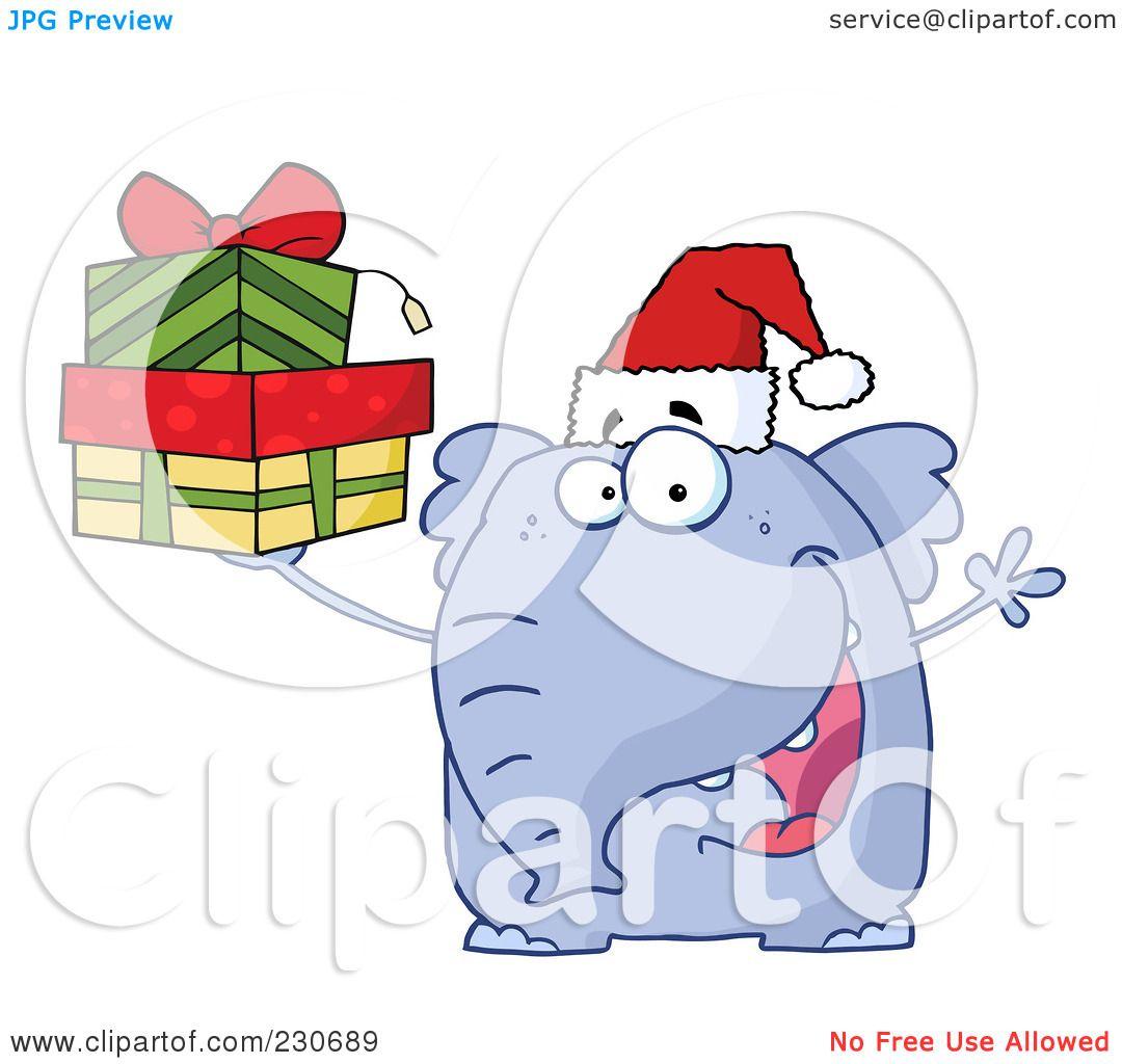 white elephant gift clipart free - photo #43