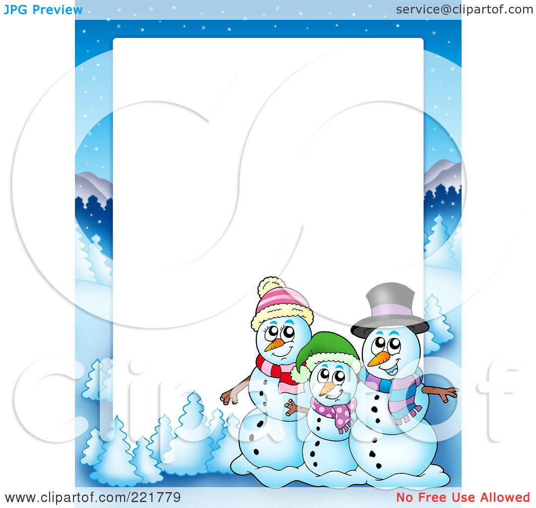 Free Christmas Photo Frame Clipart