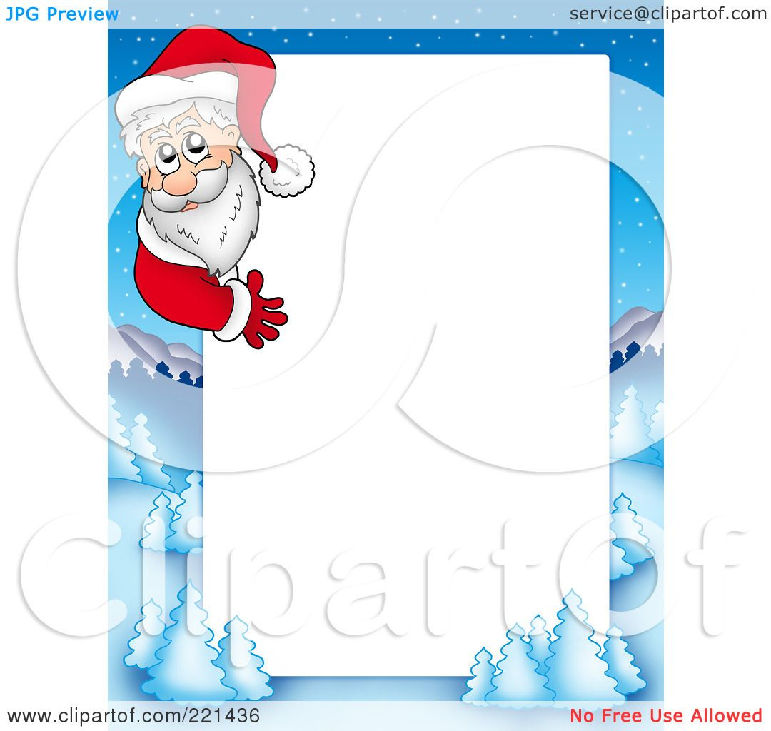 Santa Claus Border Clip Art Royalty-free clipart picture