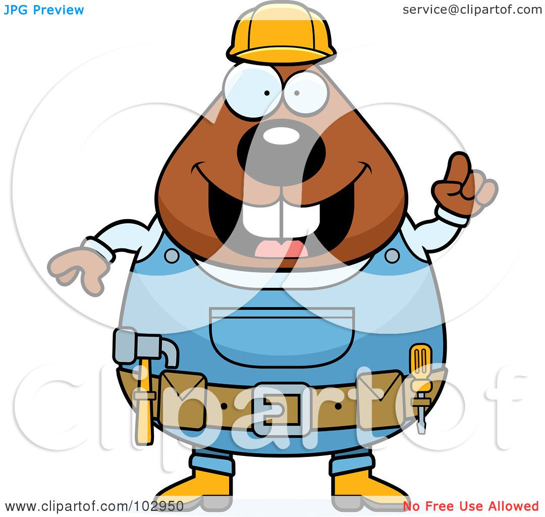 Royalty-Free (RF) Clipart Illustration of a Chubby Beaver ...
