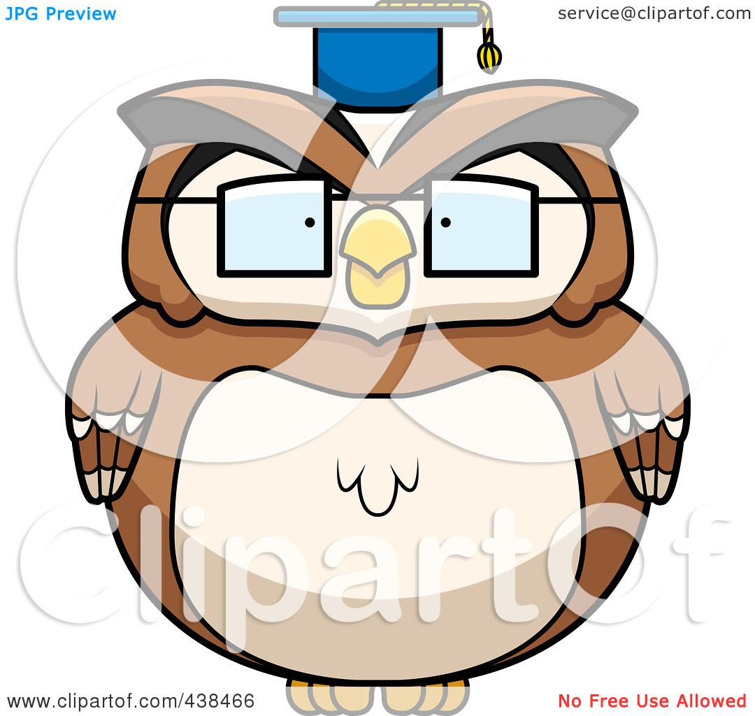 Royalty-Free (RF) Clipart Illustration of a Chubby Owl ...