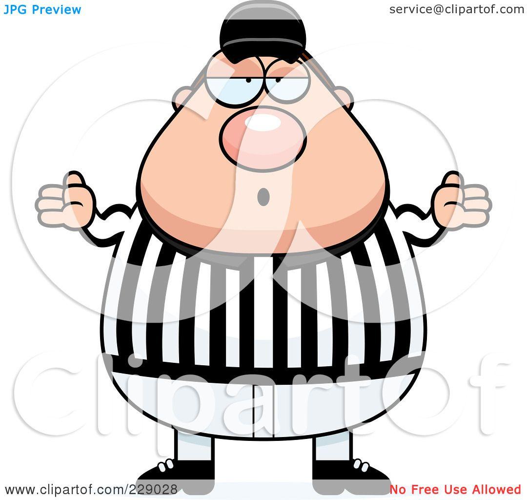 royalty free rf clipart illustration of a chubby referee shrugging rh clipartof com referee clipart free clipart referee shirt