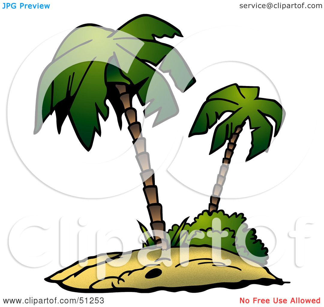 Royalty-Free (RF) Clipart Illustration of a Coconut Palm Tree ...