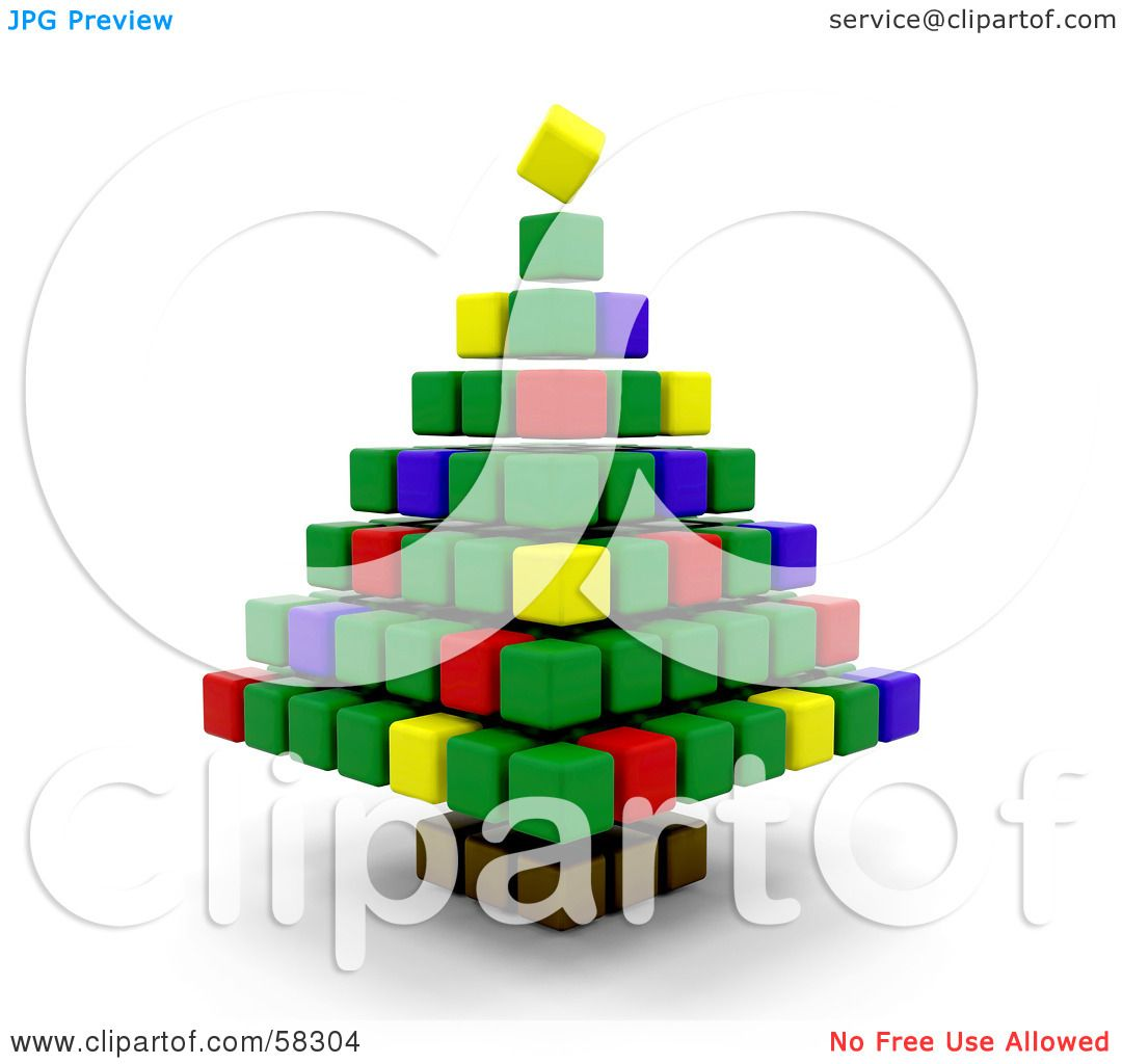 Royalty-Free (RF) Clipart Illustration of a Colorful 3d Christmas ...